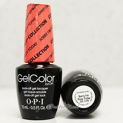 OPI GelColor Coca Cola Collection GC C35 SORRY I'M FIZZY TODAY 15mL Gel Polish