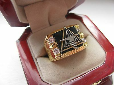 """NEW! Gents """"North American Aviation"""" CREST Ring"""