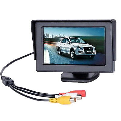 LCD Car Reverse Rearview Monitor Color Camera DVD VCR Remote Control 4.3' TFT KK