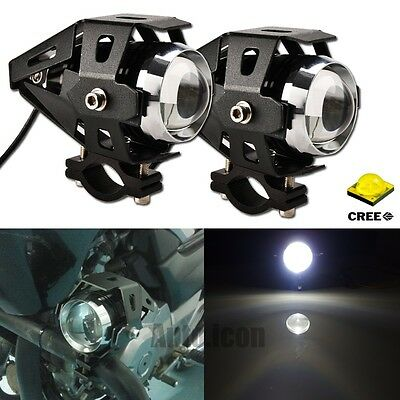 2pcs HID White Transformers Style CREE LED Spot Lights For Motorcycle Kawasaki