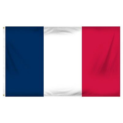 "France Flag New  35"" by 60""  100% Polyester France Flag"
