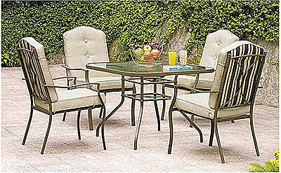 NEW 5 Pc. Patio Dining Table & Chairs Set Outdoor Backyard Furniture All Weather