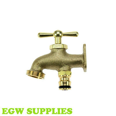 Solid Brass Hose End Tap Provides Water Supply In Garden Greenhouse Allotment