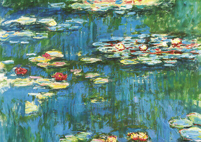 Claude Monet - Water Lily - A3 size 29.7x42cm QUALITY Canvas Art Print Unframed