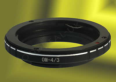 Olympus OM Mount to Four Thirds 4/3 43 Lens adapter ring Repl. MF-1; E510 E620