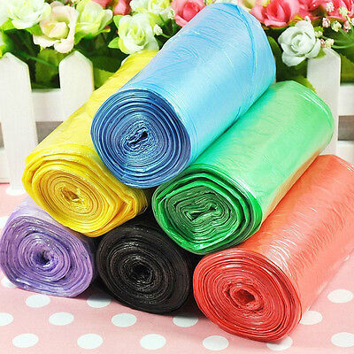 1Roll(50Pcs) Garbage Bag Trash Bags Durable Disposable Plastic Home Kitchen Tool