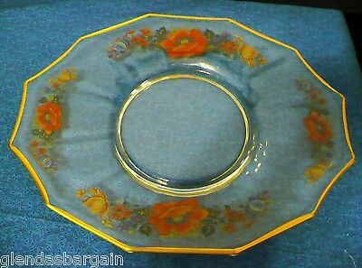 IMPERIAL GLASS  1928 COLONIAL LINE~ DODECAGON GLASS PLATE