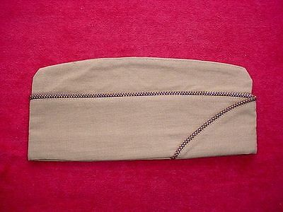 Top Condition WWII US Army Air Corps Piped Khaki Worsted Wool Garrison Cap USAAC