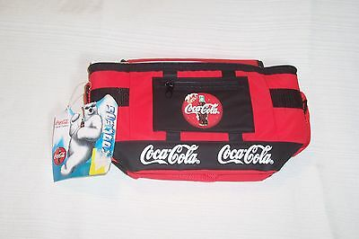 Coca Cola Soft-sided Cooler Lunch Size or 6-pack Size Adjustable Strap Portable