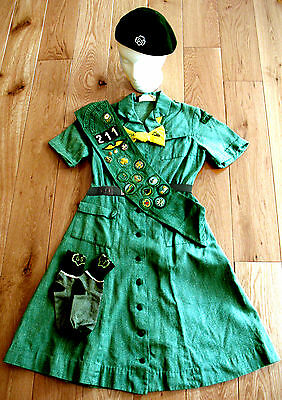 Girl Scout OFFICIAL UNIFORM 1948-1963 Transition, 6 Pieces RARE Collector Museum