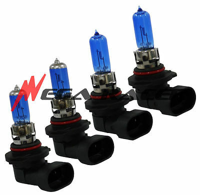 Combo 9006 9005 100/100W White Halogen Headlight Lamp Bulbs #w1 Low High Beam