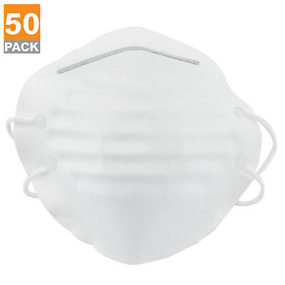 50pc Dust Mask w/ Double Straps | Breathing Air Filter Painters Fiberglass Work