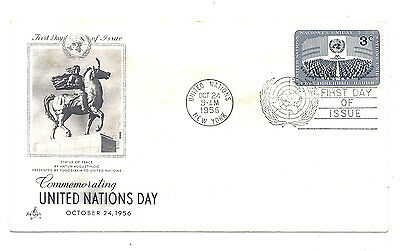 USA 1956 NEW YORK COVER UNITED NATIONS DAY FIRST DAY OF ISSUE