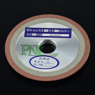 6Inch Side Tapered Type Resin Bond Diamond Grinding Wheel 150MMX10MMX8MM G 150