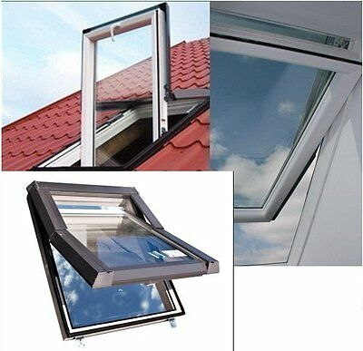 SKYFENSTER - PVC Dachfenster 55x78 66x118 78x118 78x140 94x140 Skylight + ROLLO