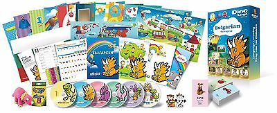 Bulgarian for Kids Deluxe set, Bulgarian learning DVDs, Books,Posters,Flashcardd
