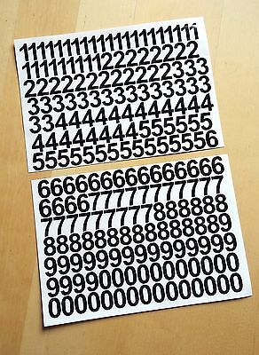 2cm / 20mm Self Adhesive Vinyl Sticker Numbers 0-9  -  25 Colours