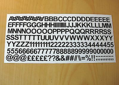 1cm / 10mm Self Adhesive Vinyl Sticker Letters and Numbers - 25 Colour Choice