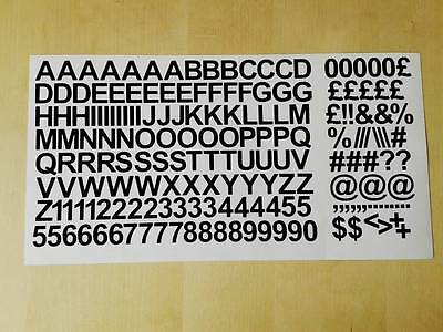 15mm / 1.5cm Self Adhesive Vinyl Sticker Letters Numbers - 25 colours Available