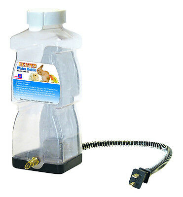 FARM INNOVATORS HEATED ELECTRIC RABBIT SMALL ANIMAL WATER BOTTLE WATERER HRB-20