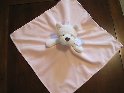 New NWT Carter Girl Pink White Husky Puppy Dog Lovey Security Cuddle Blanket
