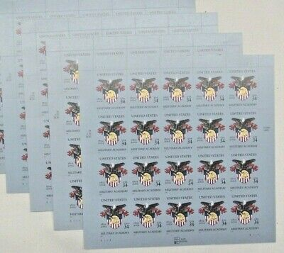 New 100 (5 x 20) UNITED STATES MILITARY ACADEMY 34 ¢ US Postage Stamps Sc # 3560