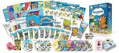 Spanish for Kids Premium set, Spanish learning DVDs, Books, Posters, Flashcards