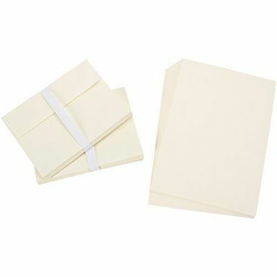 Blank Greeting Cards & Envelopes for DIY! New lot of 50, 5x7 A7 Ivory, by Darice