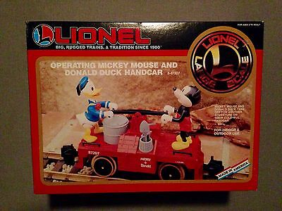 Lionel Mickey Mouse and Donald Duck Handcar NO RESERVE!