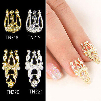 2015 Womens 5x Jewelry Glitter Alloy Hollow Out 3D Nail Art Stickers Charms