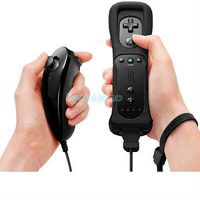 Built in Motion Plus Remote Controller And Nunchuck For Nintendo Wii&Wii U gift