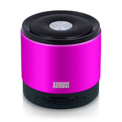 August MS425P-Wireless Bluetooth Mobile Phone Speaker with Microphone - Pink