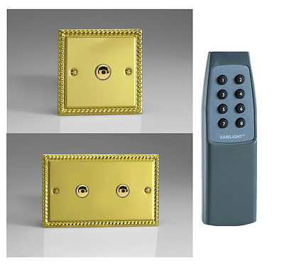 Georgian Brass Plated V-Plus IR Touch/Remote Dimmers - Gang & Wattage Option