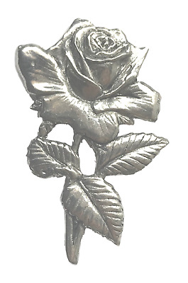 Yorkshire Rose Hand Made in the UK Pewter Lapel Pin Badge