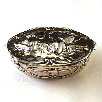 Antique William Comyns English Victorian Era Sterling Silver Reynolds Angels Box
