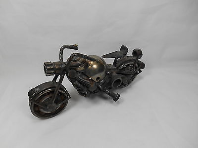 Vintage Rusty Metal Motorcycle Art Harley Davidson Type VHTF Great Gift! S3,5.0