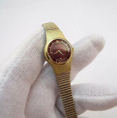 SEIKO, Galaxy, 8Y21 0030, All GP, Maroon Face, Lovely LADIES WATCH,1925,L@@K