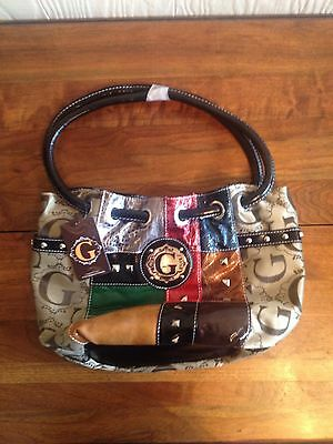 Womens Designer Inspired Fashion Patchwork Purse -  L, Multi-Color, New w/ Tags