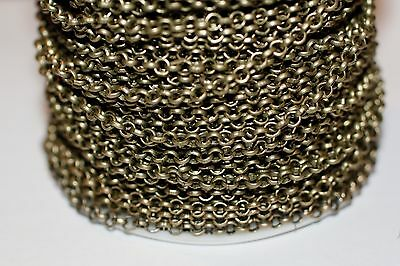 15ft 4mm Antique Brass Rolo Cable Chain 1-3 day jewelry making Shipping