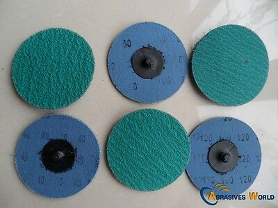 "20 Pcs 2"" 50mm Roloc Quick Change Sanding Discs 40, 60, 120 grit for All Metal"
