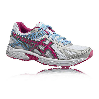 Asics Patriot 7 Womens White Pink Cushioned Running Road Shoes Trainers