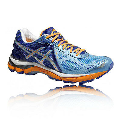 ASICS GT-2000 3 Womens Blue Orange Support Running Sports Shoes Trainers D Width