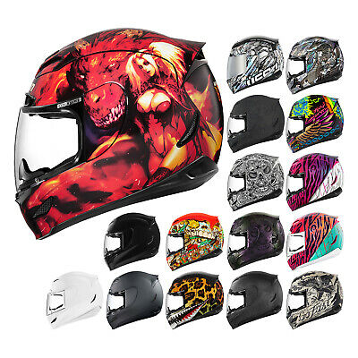 *FAST FREE SHIPPING* ICON Airmada (All Graphics) FULL FACE Motorcycle Helmet