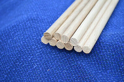 10 Oak Wooden Dowel Rod 9mm x 30cm  =3 meters £3.14 per meter