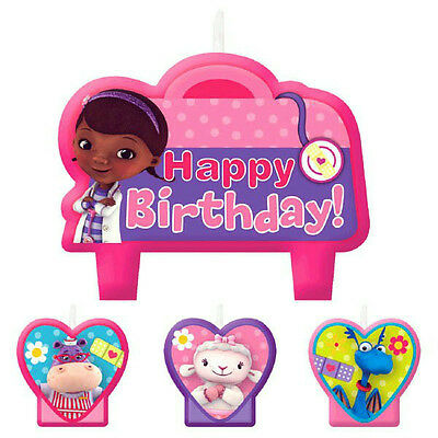 Disney Doc Mcstuffins Party Supplies Candle Mini Moulded Pack Of 4