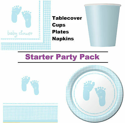 Boy Blue Baby Shower 8-48 Guest Starter Party Pack - Cups | Plates | Napkins