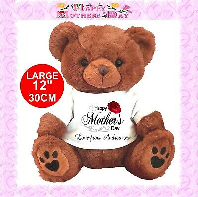 "Personalised Brown Teddy Bear 30Cm/12""  Mother's Day Birthday Gifts"