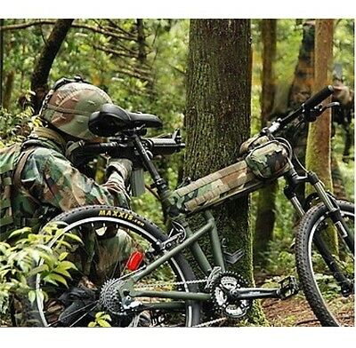1000D Cordura Hummer Bicycle Beam Saddle Bag Tacical Cover Military Bike Bag