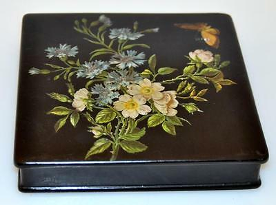 Paper Maiche vintage lacquer box/hand painted Lot 296