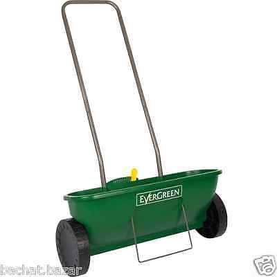 EverGreen Easy Spreader Plus Garden Lawn Seed Outdoor Fertilizer Spreader